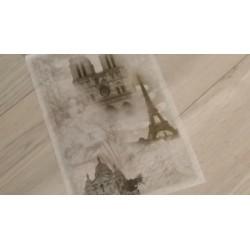 Papier feuille de riz A4  Paris vendu à l'unité, stampéria