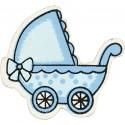 Landau bébé Formes en bois 34 x 31 mm - Bleu clair - 10 pcs