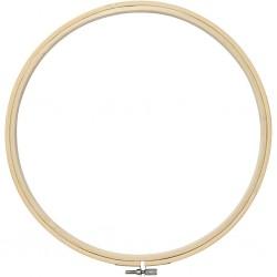 Cercle de Bois tambour support broderie 25 cm