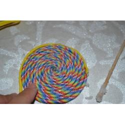 Punchy, Paracord  Assortiments de 6 Cordes multicolores, 4mm x 2,6 m