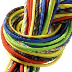 Punchy, Paracord  Assortiments de 6 Cordes multicolores, 4mm x 2,6 m