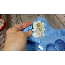 Pain de savon à mouler pour fabrication artisanale pain de  100 gr coloris Bleu