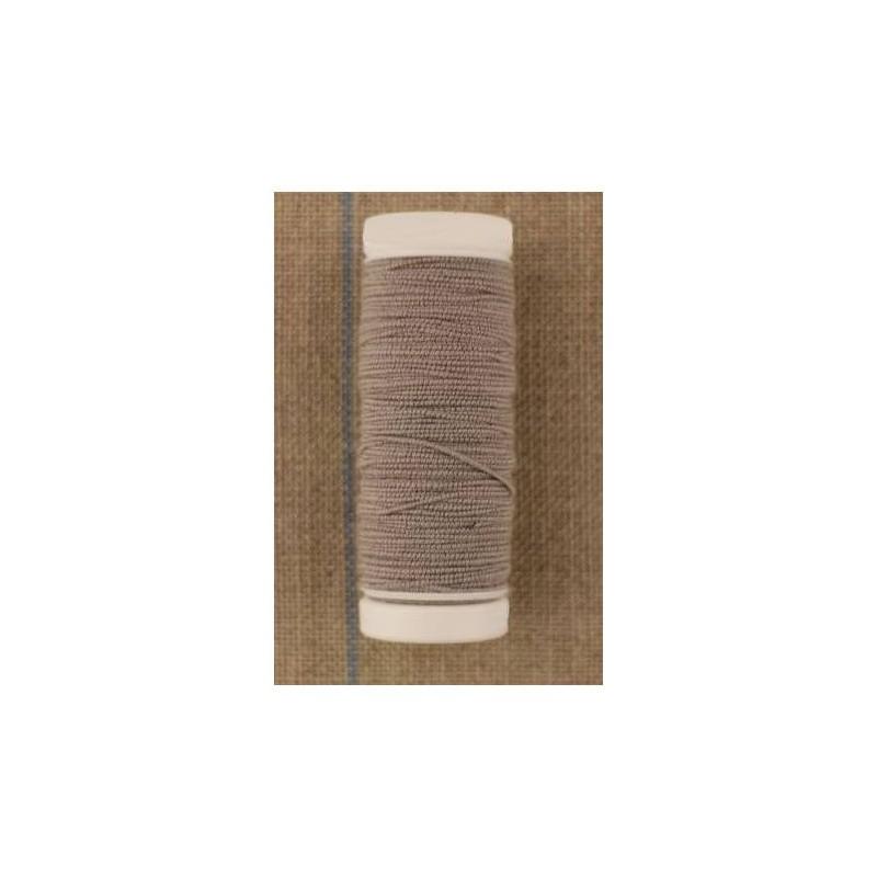 Fil élastique pour fronces bobine 20 m coloris Grège (gris clair)