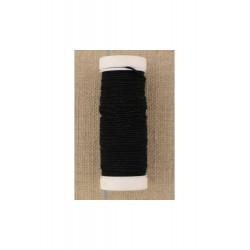 Fil élastique pour fronces bobine 20 m coloris noir