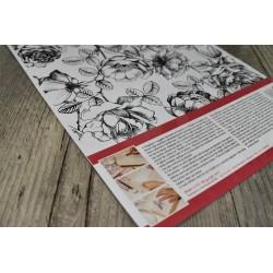 Transfert 2 planches A4 Fleurs & couronne Stampéria
