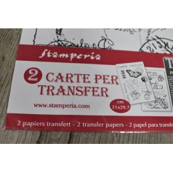 Transfert 2 planches A4, Carte Postale, Stampéria