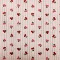 Tissu Coton imprimé Cerises fond Rose, Par 10 cm