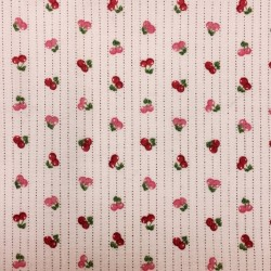 Tissu Coton imprimé Cerises...