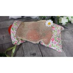 Tissu Coton imprimé Rose Cerises Roses, Par 10 cm