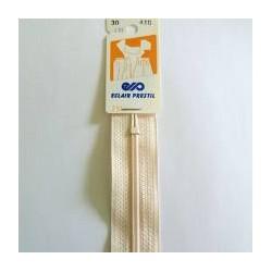 Fermeture éclair nylon 30 cm -  Ivoire vendu à l'unité