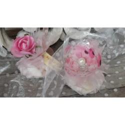 Organza, l: 50 cm, rose clair, brillant, vendu par 0.50 m