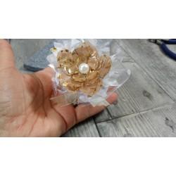 Perles rondes Luster en verre cirée effet nacré blanc Neige poudré 8 mm (Boîte : 20 pièces)