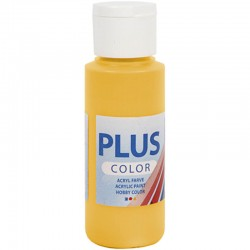 Peinture Acrylique Plus Color, Yellow Sun, 60 ml,couvrante 1 Flacon