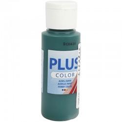 Peinture Acrylique Plus Color, Vert Foncé, 60 ml, couvrante 1 Flacon