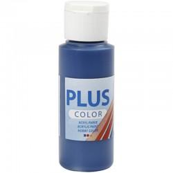 Peinture Acrylique Plus Color, Bleu Marine, 60 ml, couvrante, 1 Flacon