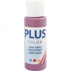 Peinture Acrylique Plus Color, Red Plum, 60 ml, couvrante, 1 Flacon