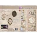 Film Rétractable Manchon 1 DECO  vintage XL Bouteille/bocal/boule Horloge et oiseaux