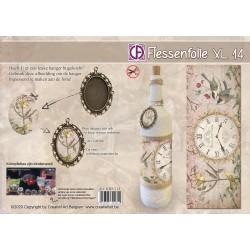 Film Rétractable Manchon 1 DECO  vintage XL Bouteille/bocal/boule Horloge