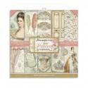 Bloc Papier Scrap set Princess  PRINCESS STAMPERIA 20X20 cm 10 feuilles double-face