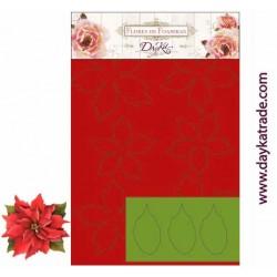 Planche de mousse prédécoupée Fleurs Poinsettias ROUGE, marque DAYKA