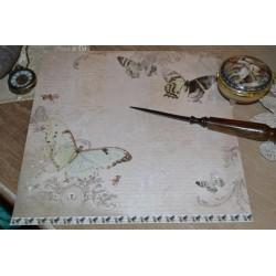 Papier Shabby Chic Papillon 30.5 X 30.5 CM - Vintage 1 feuille avec imprimé Recto Verso