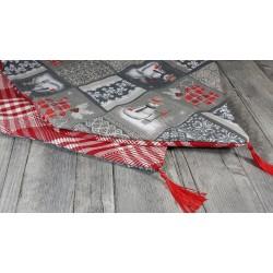 Pompon Textile Nylon coloris Noir, petit 7,5 cm, breloque textile, Vendu à l'unité