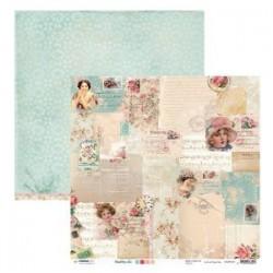 Papier Shabby Chic femme 30.5 X 30.5 CM - Vintage 1 feuille avec imprimé Recto Verso
