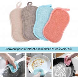 Eponge Lavable Vaisselle Réutilisable en Microfibre, produit écologique vendu à l'unité