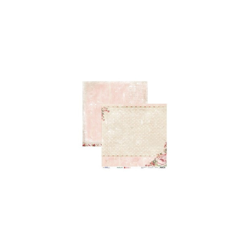 Papier Shabby Chic  30.5 X 30.5 CM - Tendresse 1 feuillle recto verso