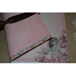 Papier Scrap Shabby Chic  30.5 X 30.5 CM (Vendue à l'unité :  feuille  imprimé Recto Verso)