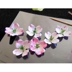 Matrice de Découpe en métal fleur cornouiller 3pièces 3,8/4,5/6 cm