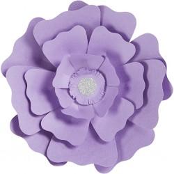 Fleurs XL Papier 230gr Kit 2 P :15+25 cm Lilas Mariage/Fêtes