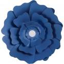 Fleurs XL Papier 230gr Kit 2 P :15+25 cm Bleu Marine Mariage/Fêtes