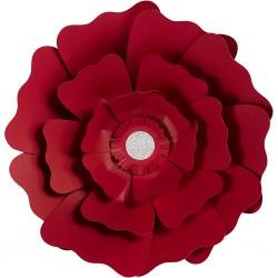 Fleurs XL Papier 230gr Kit 2 P :15+25 cm Rouge Mariage/Fêtes