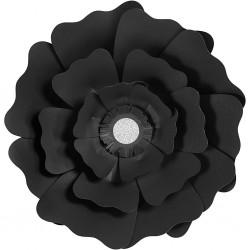 Fleurs XL Papier 230gr Kit 2 P :15+25 cm NOIR Mariage/Fêtes