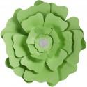Fleurs XL Papier 230gr Kit 2 P :15+25 cm VERT Mariage/Fêtes