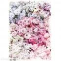 Papier Mûrier imprimé ESMEE Décor tissu Roses 48,3x76,2 cm 2p