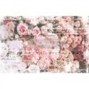 Papier Mûrier imprimé ANGELIC Décor tissu Roses 48,3x76,2 cm 2p