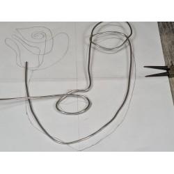 Pince pointue long à bec petit bricolage poignée ergonomique