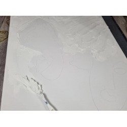 Couteaux Spatules en métal modeler ou peindre, set 5 pièces