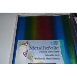 """Feuilles métallisées """"Métallic Follie"""" Coloris Multicolore (à utiliser avec la colle Designfix)"""