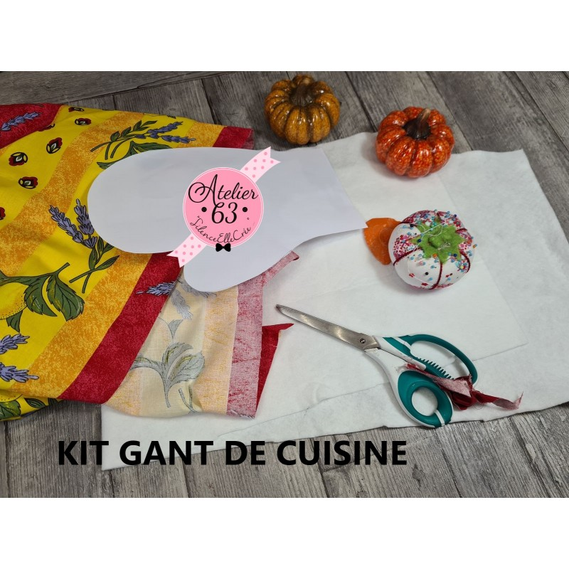 """Mon Sac Crea Express :  Kit Coudre 1 gant de cuisine """"Provence"""""""