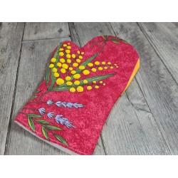 """Tissu imprimé Fleurs Plumes """"Coloring Garden"""" (l: 110 cm vendu par 10 cm)"""