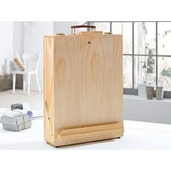 Boite en bois Malette Chevalet ensemble à peindre 33x13x45 cm