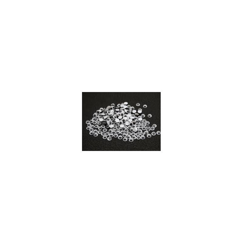 Yeux mobiles ronds à coller Diamètre 8 mm (sachet 100 pièces) noir & blanc