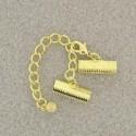 Fermoir à pincer (clip) doré  16 mm (1 pièce)