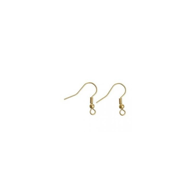 crochet boucle d'oreille doré (sachet : 2 paires)