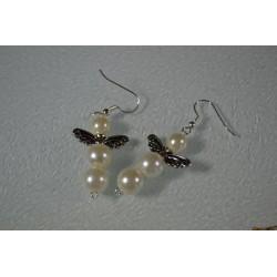 Perles Métal doré forme ailes (sachet : 10 pièces)