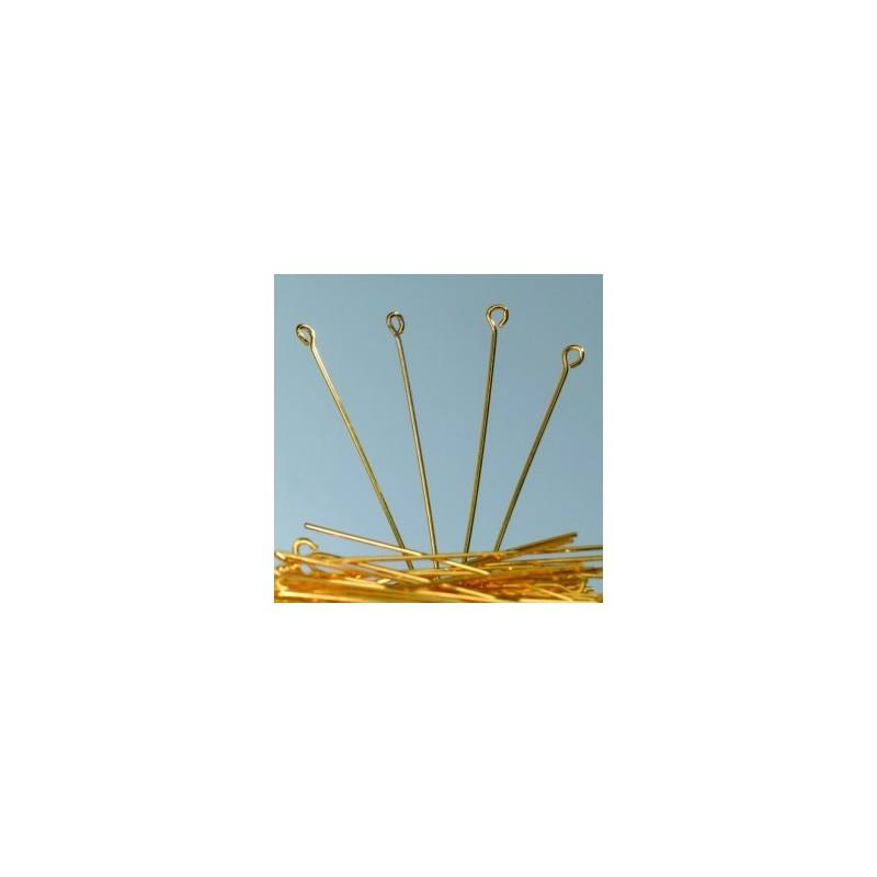 Tiges clou avec boucle dorée Accessoire Bijoux (sachet Economique : 100 pièces)