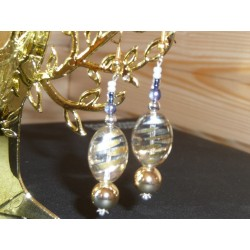 Tiges clou avec boucle argenté Accessoire Bijoux (sachet Economique : 100 pièces)